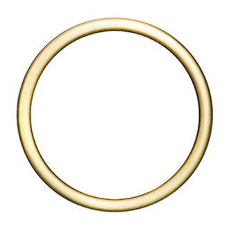 Brushed Gold Circle Barrette 1 Count