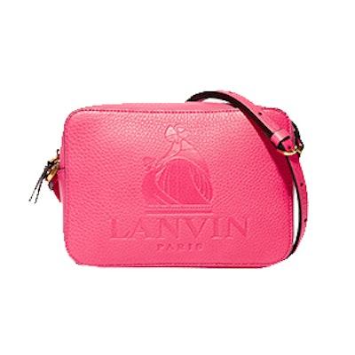 So Lanvin Embossed Textured-Leather Shoulder Bag