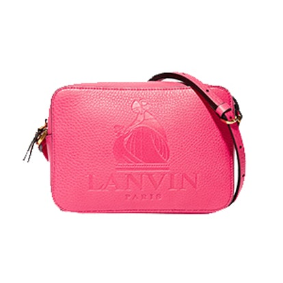 So Lanvin Embossed Textured-Leather Shoulder Bag