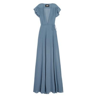 Georgette Wrap Maxi Dress