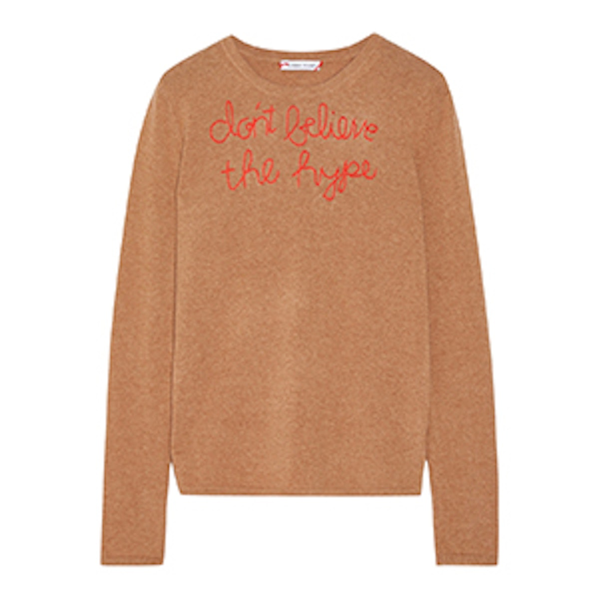 Don't Believe The Hype Embroidered Cashmere Sweater