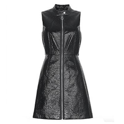 Faux Patent Leather Dress