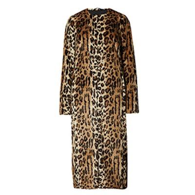 Long Leopard Print Coat