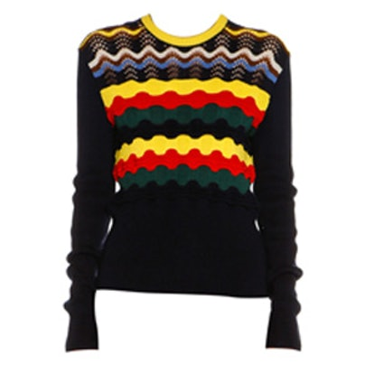 Multi-Stripe Cotton-Blend Sweater