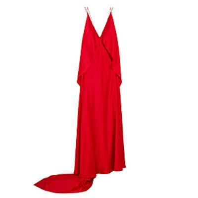 Spider Open-Back Silk-Satin Gown