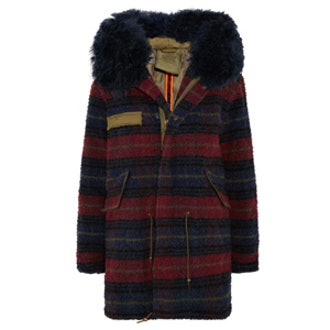 Shearling-Trimmed Boiled Wool Parka