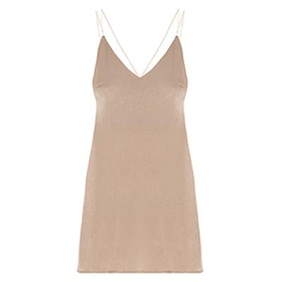 Satin V-Neck Slip Dress