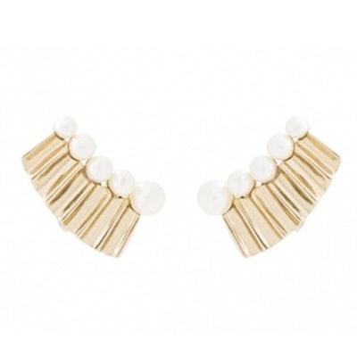 Bold Pearl Clip Earrings