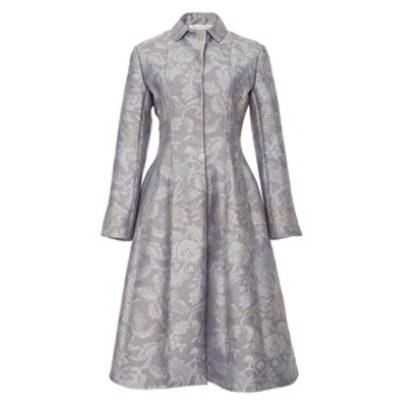 Seamed Brocade Coat