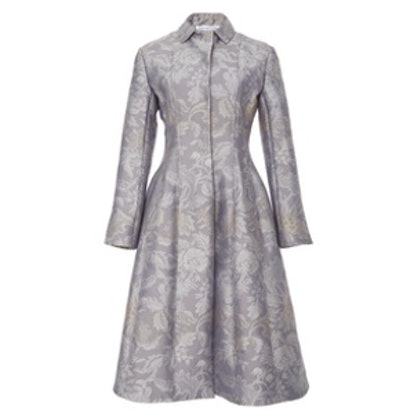 Seamed Brocade Coat