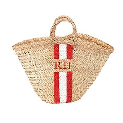 Monogram Plaited Basket