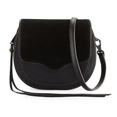 Suki Mini Suede & Leather Saddle bag