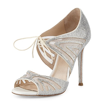 Crystal-Embellished Two-Piece Pump