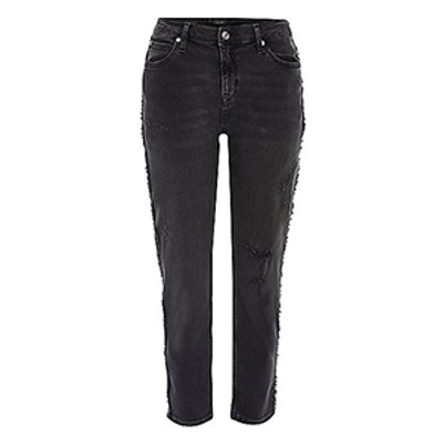 Washed Black Boyfriend Jeans