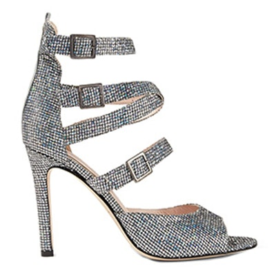 Fugue Glittered Leather Sandals
