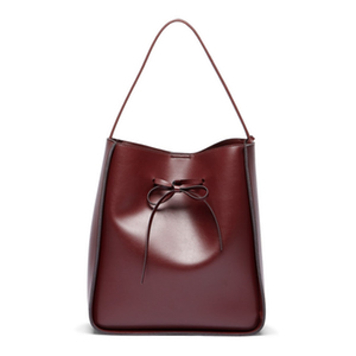 Oxblood Vegan Bucket Bag