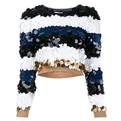 Sequined Striped Jumper