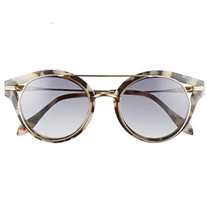 Preston Gradient Round Sunglasses