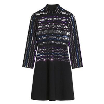 Sequin Embellished Turtleneck Dress
