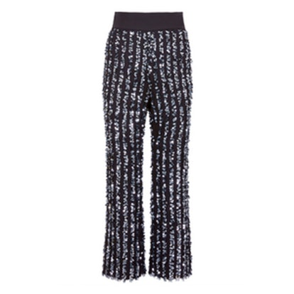 Cropped Flare Sequin Pants