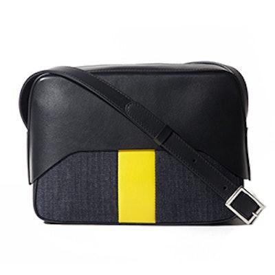 Garçon Bag By Myriam Schaefer In Black And Yellow