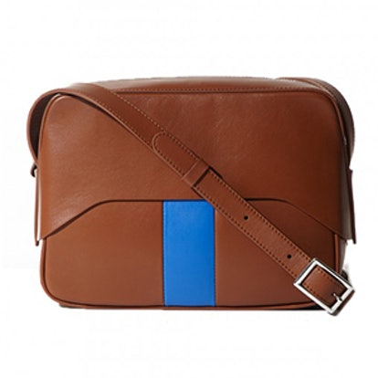 Garçon Bag By Myriam Schaefer In Cognac And Blue