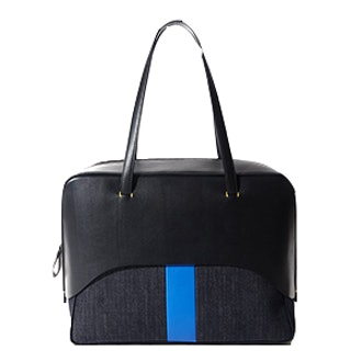 Papa Bag By Myriam Schaefer In Black And Blue