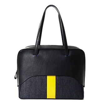 Papa Bag By Myriam Schaefer In Black And Yellow