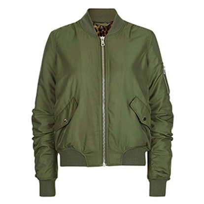 Faux Fur Lined MA1 Bomber Jacket