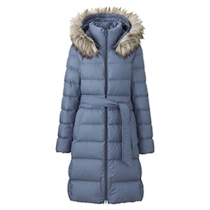 Lightweight Down Hooded Coat