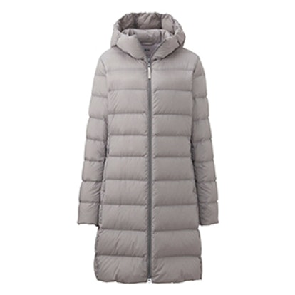 Ultra Light Down Stretch Hooded Coat