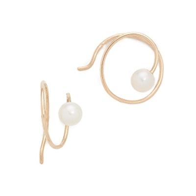 Freshwater Cultured Pearl Swirl Earrings