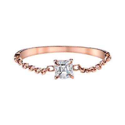 Asscher Diamond Chain Ring