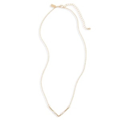 Wire Wrap Chevron Pendant Necklace