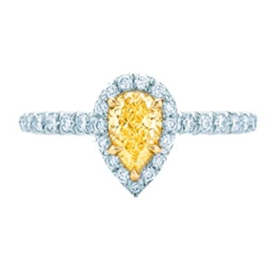 Soleste Pear Yellow Diamond Ring