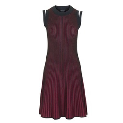 Plated Rib Swing Dress