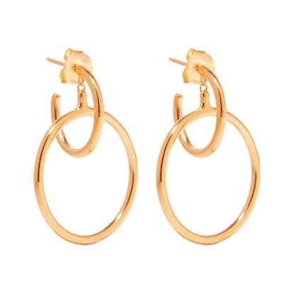 Norma Medi Gold-Plated Hoop Earrings