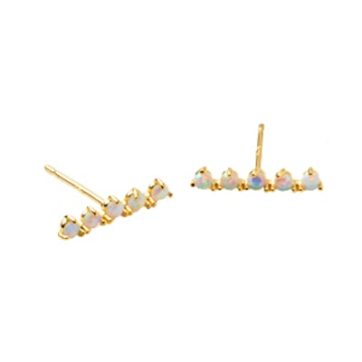 Aligned Opal Bar Stud