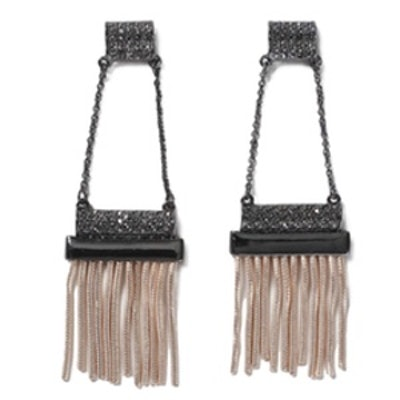 Chain Tassel Drop Earrings