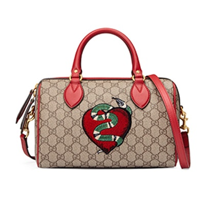 Limited Edition GG Supreme Top Handle Bag With Embroideries
