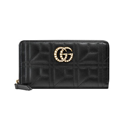 GG Marmont Zip Around Wallet