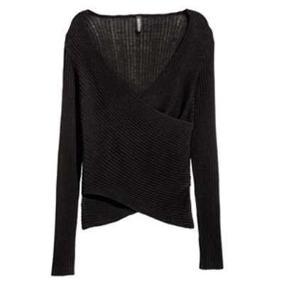 Ribbed Wrapover Top