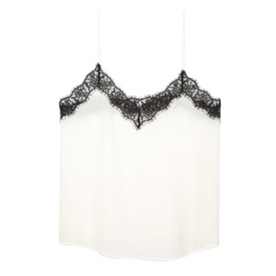 Silk Camisole Trimmed With Lace