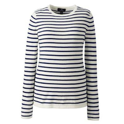 Cashmere Tee Stripe Sweater