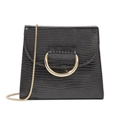 Tiny Box Lizard-Effect Leather Shoulder Bag