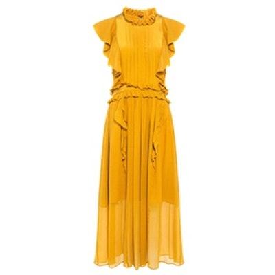 Florence Silk Ruffle Midi Dress