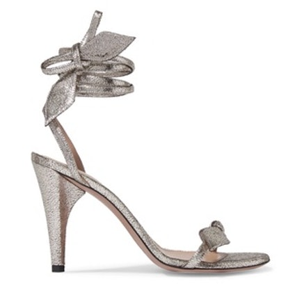 Mike Metallic Cracked-Leather Sandals