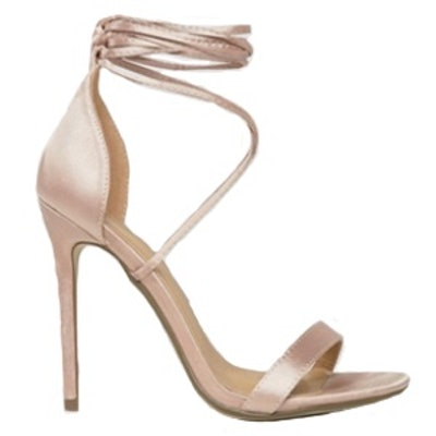 Lace Up Barely There Heeled Sandals