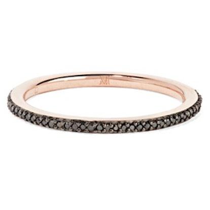 Skinny Rose Gold Vermeil Diamond Ring