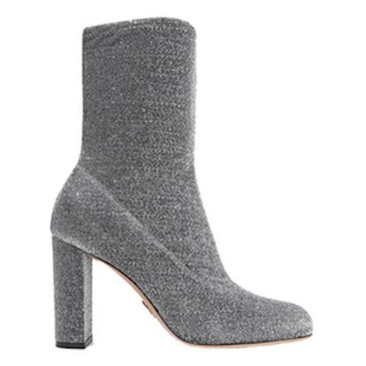 Giorgia Textured-Lamé Boots